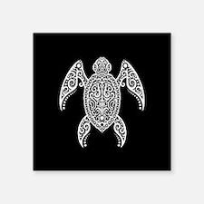 Intricate White and Black Tribal Sea Turtle Sticke