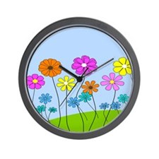 Spring Flowers B Wall Clock