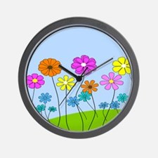 Spring Flowers B Wall Clock