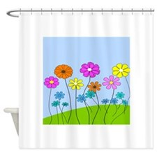 Spring Flowers B Shower Curtain
