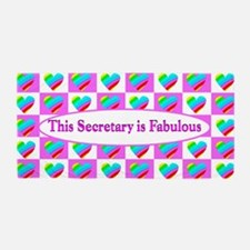 Pink Secretary Beach Towel