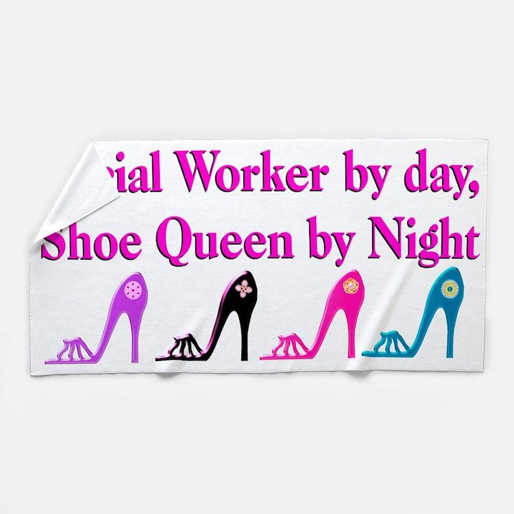 Social Worker Shoes Beach Towel