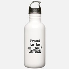 Proud to be an Indie Author Water Bottle