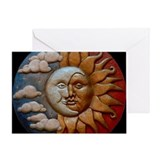 Sun and moon Greeting Cards