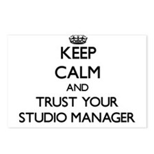 Keep Calm and Trust Your Studio Manager Postcards
