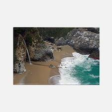 Beach Waterfall Big Sur Rectangle Magnet