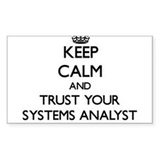 Keep Calm and Trust Your Systems Analyst Decal