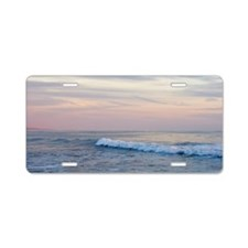 Sunset Surf Aluminum License Plate