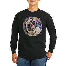 Brown Pug Puppy Dark Long Sleeve T-Shirt