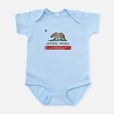 Distressed California Republic State Flag Body Sui