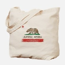 Distressed California Republic State Flag Tote Bag