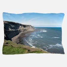 View along the Yorkshire coastline Pillow Case