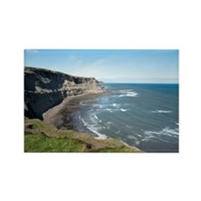 View along the Yorkshire coastlin Rectangle Magnet