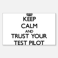 Keep Calm and Trust Your Test Pilot Decal