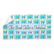 #1 Bank Teller Beach Towel