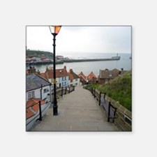 "199 church steps in Whitby Square Sticker 3"" x 3"""