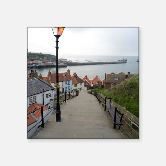 """199 church steps in Whitby Square Sticker 3"""" x 3"""""""