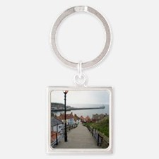 199 church steps in Whitby Square Keychain