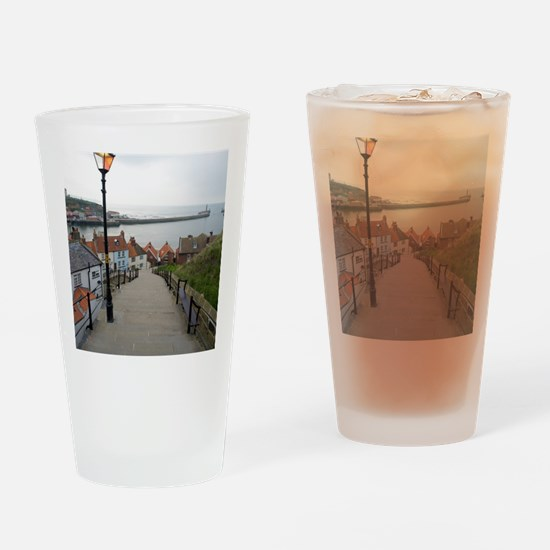 199 church steps in Whitby Drinking Glass