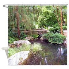 Bridge Over Pond Shower Curtain