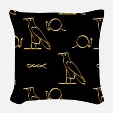 Egyptian Gold Woven Throw Pillow