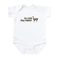 So I Said Hey Llama Infant Bodysuit