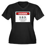 Danger SBD Women's Plus Size V-Neck Dark T-Shirt