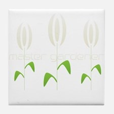 Master Gardener Logo Garden Hobby Tile Coaster