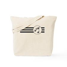 Music Stripes Tote Bag
