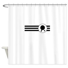 Table Tennis Stripes Shower Curtain