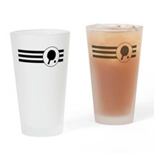 Table Tennis Stripes Drinking Glass