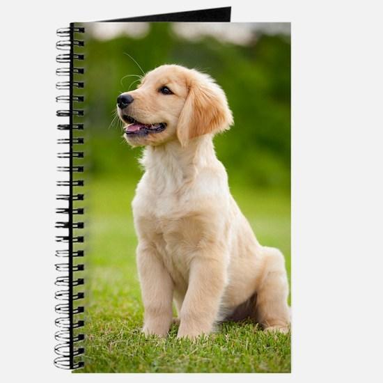 Happy Golden Puppy Journal