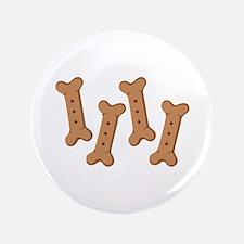 """Puppy Dog Biscuits Bone Treats 3.5"""" Button"""