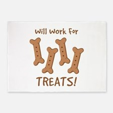 Will Work For Treats! 5'x7'Area Rug