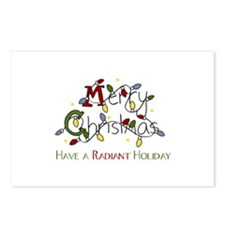Merry Christmas Have A Radiant Holiday Postcards (