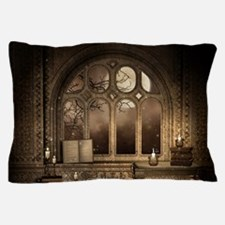Gothic Library Window Pillow Case