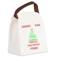 Lebanese Food Pyramid Canvas Lunch Bag