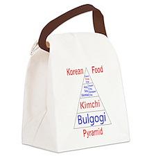 Korean Food Pyramid Canvas Lunch Bag