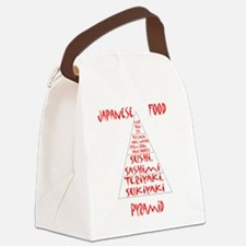 Japanese Food Pyramid Canvas Lunch Bag