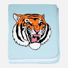 Tiger Face baby blanket