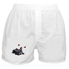 Black Frenchie Ladybug Boxer Shorts