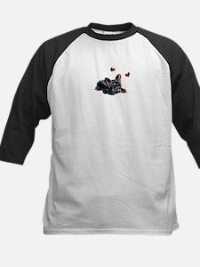 Black Frenchie Ladybug Baseball Jersey