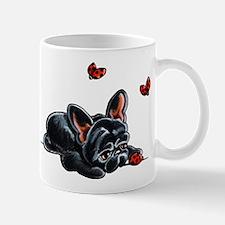 Black Frenchie Ladybug Mugs