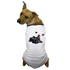 Black Frenchie Ladybug Dog T-Shirt