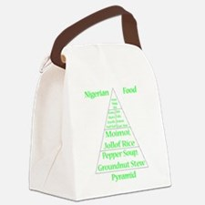 Nigerian Food Pyramid Canvas Lunch Bag
