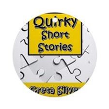 Quirky Short Stories Ornament (round)