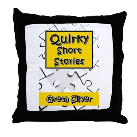 Quirky Throw Pillow : Quirky Short Stories Throw Pillow by moonRoxIncPublications