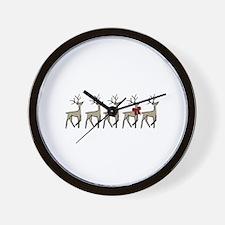 Holiday Reindeers Wall Clock