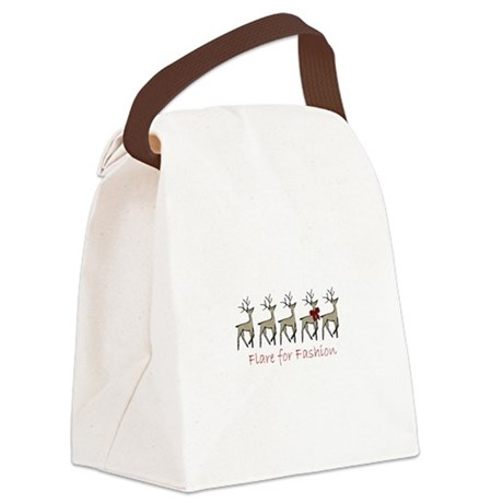 Flare For Fashion Canvas Lunch Bag