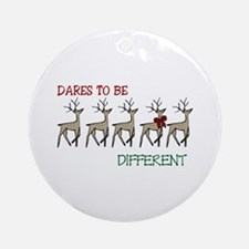 Dares To Be Different Ornament (Round)